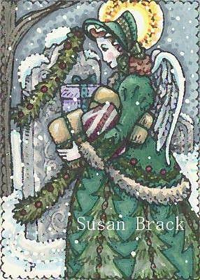 Art: ANGEL OF CHRISTMAS PAST by Artist Susan Brack