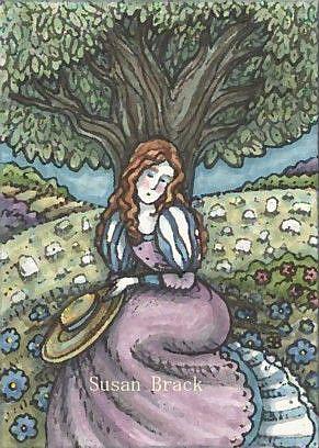 Art: MELENCHOLY CALLS by Artist Susan Brack