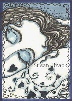 Art: TEARS ON HER PILLOW by Artist Susan Brack