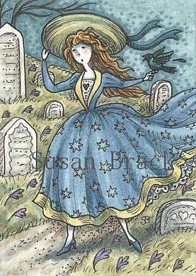 Art: WINDY HILL CEMETERY by Artist Susan Brack
