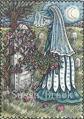 Art: WHERE THE WILD ROSE GROWS by Artist Susan Brack
