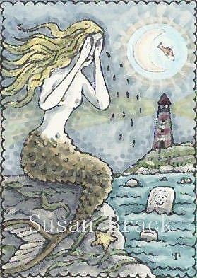 Art: SEA OF TEARS UNDER A FISH TAIL MOON by Artist Susan Brack