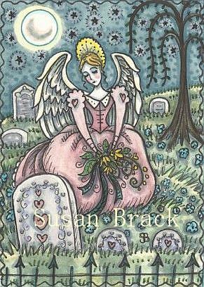 Art: LOVED BY AN ANGEL by Artist Susan Brack