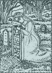 Art: LAST EMBRACE - Cemetery Stamp by Artist Susan Brack