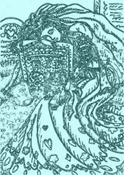 Art: TILL DEATH DO US PART - Bride Stamp by Artist Susan Brack