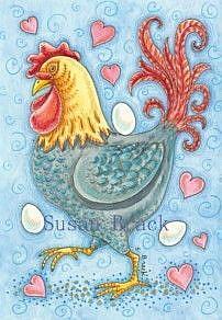 Art: ROOSTER PRIDE by Artist Susan Brack