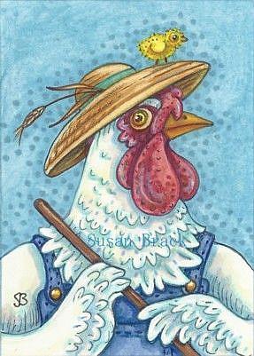 Art: BORN TO BE A CHICKEN FARMER by Artist Susan Brack
