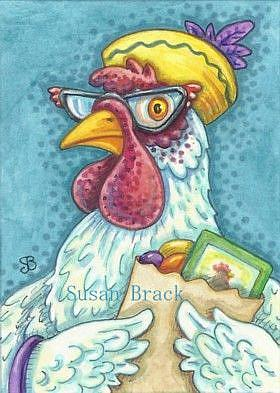 Art: HENNY PENNY WAS A SMART SHOPPER by Artist Susan Brack