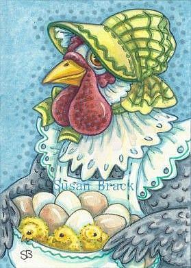 Art: MOTHER HEN by Artist Susan Brack