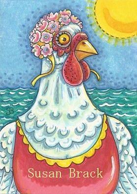 Art: SWAM THE ENGLISH CHANNEL by Artist Susan Brack