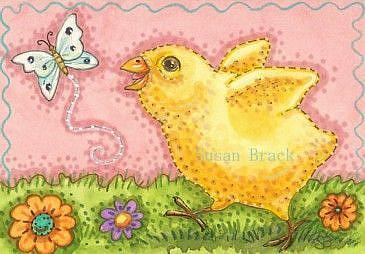 Art: BUTTERFLY AND PEEP by Artist Susan Brack
