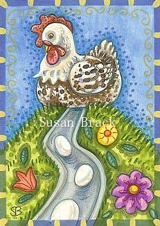 Art: EGG FACTORY by Artist Susan Brack
