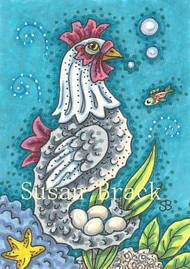 Art: CHICKEN OF THE SEA by Artist Susan Brack