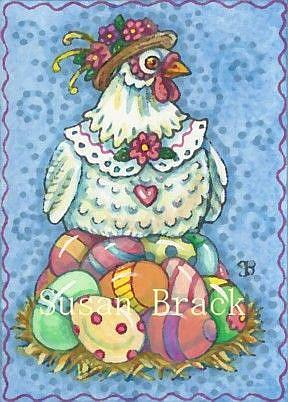 Art: EASTER EGG FACTORY by Artist Susan Brack