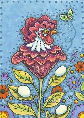 Art: COCKSCOMB AND EGGS by Artist Susan Brack