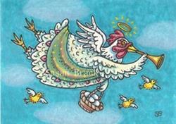 Art: ALL GOOD EGGS GO TO HEAVEN #2 by Artist Susan Brack