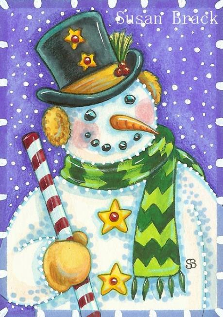 Art: LET IT SNOW by Artist Susan Brack