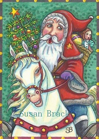 Art: CHRISTMAS COMES ON A JINGLEBELL PONY by Artist Susan Brack