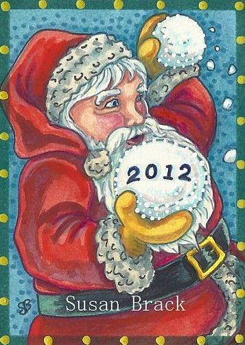 Art: 2012 NEW YEARS SNOWBALL by Artist Susan Brack