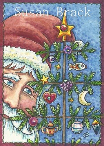 Art: ST NICKS FEATHER TREE by Artist Susan Brack
