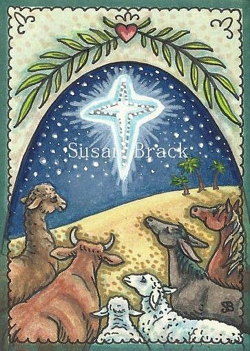 Art: ANIMALS PRAY FOR PEACE ON EARTH by Artist Susan Brack