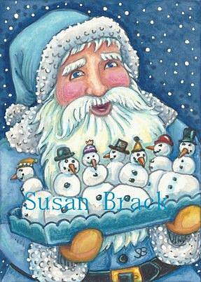 Art: YOU CAN NEVER HAVE TOO MANY SNOWMEN by Artist Susan Brack