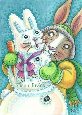Art: WEATHER FOR SNOW BUNNIES by Artist Susan Brack