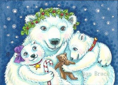 Art: A POLAR BEAR CHRISTMAS by Artist Susan Brack