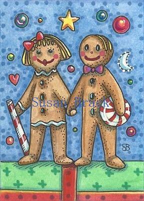 Art: GINGERBREAD BLISS by Artist Susan Brack