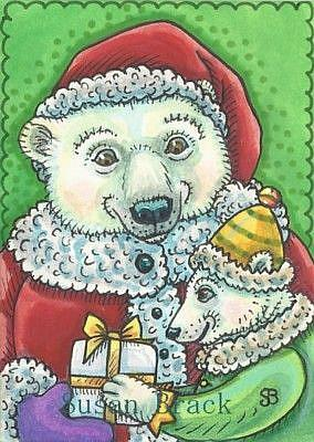 Art: GIFT FOR SANTA by Artist Susan Brack