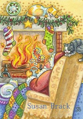 Art: THE NIGHT AFTER CHRISTMAS by Artist Susan Brack