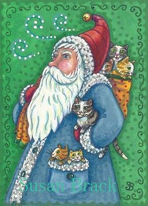 Art: GIFTS OF FUR AND PURRS 2 by Artist Susan Brack