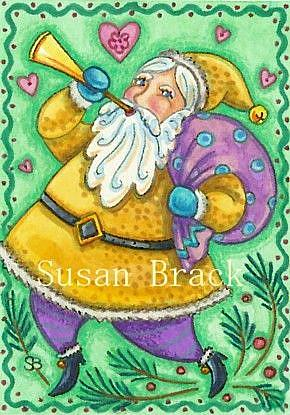 Art: CHRISTMAS TOOT by Artist Susan Brack