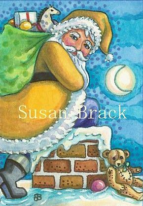 Art: DOWN THE CHIMNEY by Artist Susan Brack
