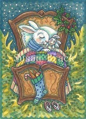 Art: SWEET DREAMS OF CHRISTMAS by Artist Susan Brack