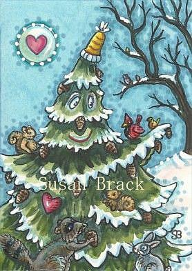 Art: PINE CONES FOR ALL by Artist Susan Brack