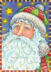 Art: STARS AND STRIPES - Santa by Artist Susan Brack