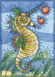 Art: BALLS N' HOLLY SEAHORSE by Artist Susan Brack