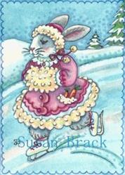 Art: BUNNY ON ICE by Artist Susan Brack
