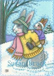 Art: DEEP SNOW by Artist Susan Brack