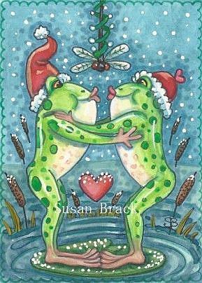 Art: DRAGONFLY MISTLETOE by Artist Susan Brack