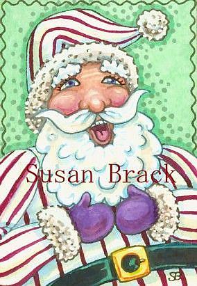 Art: HO HO HO by Artist Susan Brack