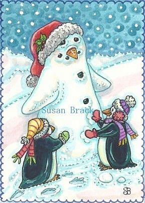 Art: SNOW PENGUIN by Artist Susan Brack