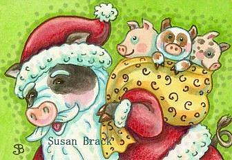 Art: GOOD LITTLE PIGGIES by Artist Susan Brack