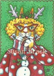 Art: Hiss N' Fitz - CHRISTMAS IS GINGERBREAD AND A SNOWMAN SWEATER by Artist Susan Brack