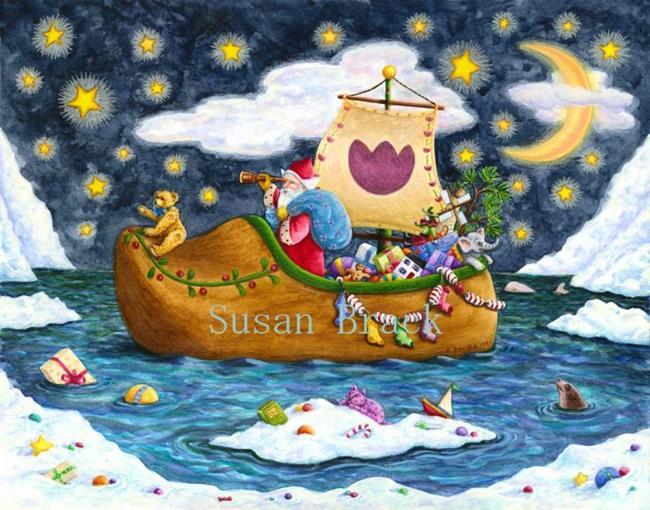 Art: DUTCH SHOE SANTA by Artist Susan Brack