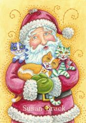 Art: JINGLE CAT CHRISTMAS by Artist Susan Brack