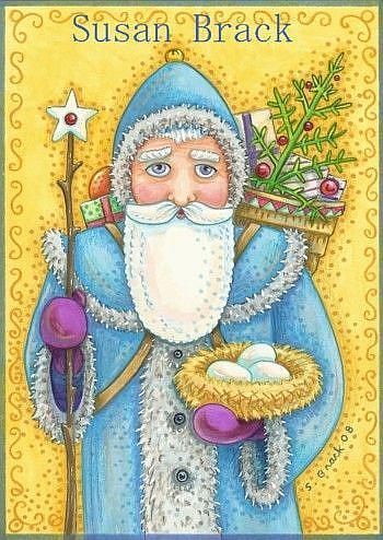 Art: BLUE BELSNICKLE by Artist Susan Brack