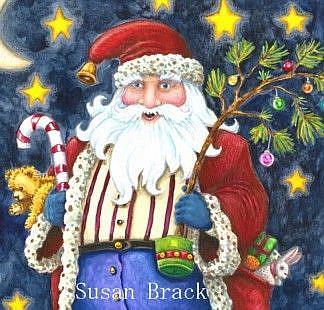 Art: CHIMNEY TOP SANTA Crop by Artist Susan Brack