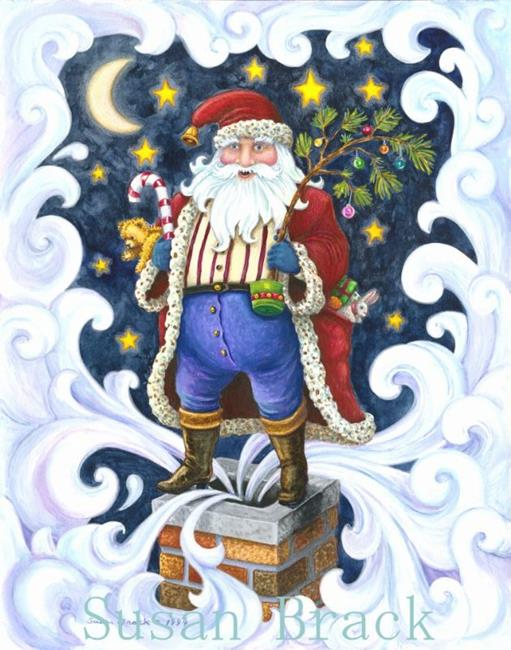 Art: CHIMNEY TOP SANTA by Artist Susan Brack